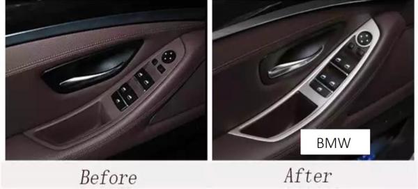 Set 4 piese ornament portiera din aliaj pentru BMW F10 seria 5  2011>2017 1