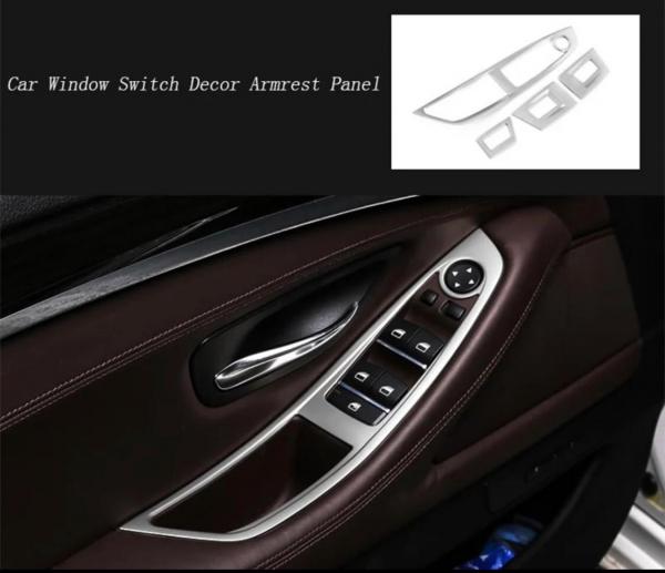 Set 4 piese ornament portiera din aliaj pentru BMW F10 seria 5  2011>2017 2