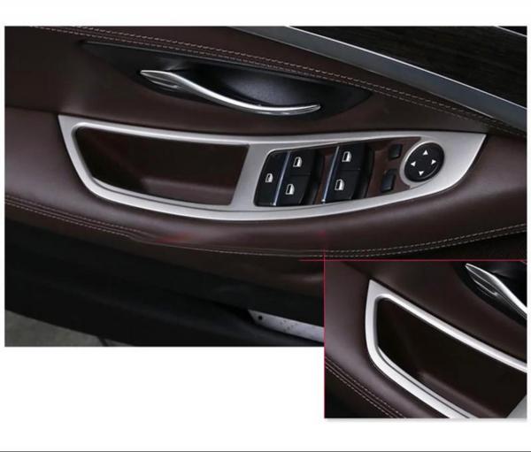 Set 4 piese ornament portiera din aliaj pentru BMW F10 seria 5  2011>2017 4