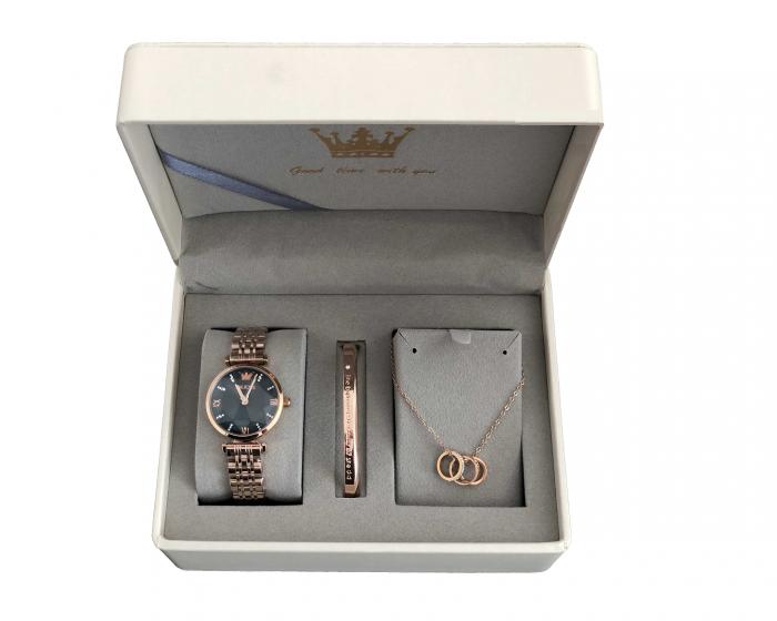 Set pentru femei 3 buc Luxury ceas, bratara, colier [0]