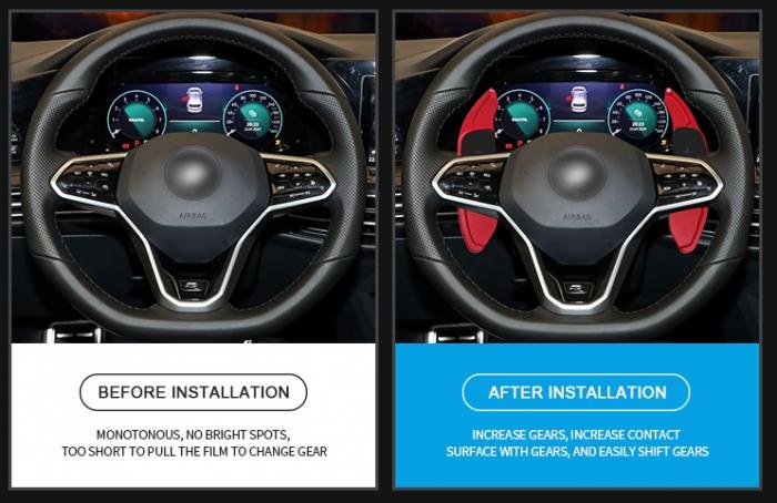 Set 2 padele volan pentru VW, Shift Paddle, VW Golf 7 [2]