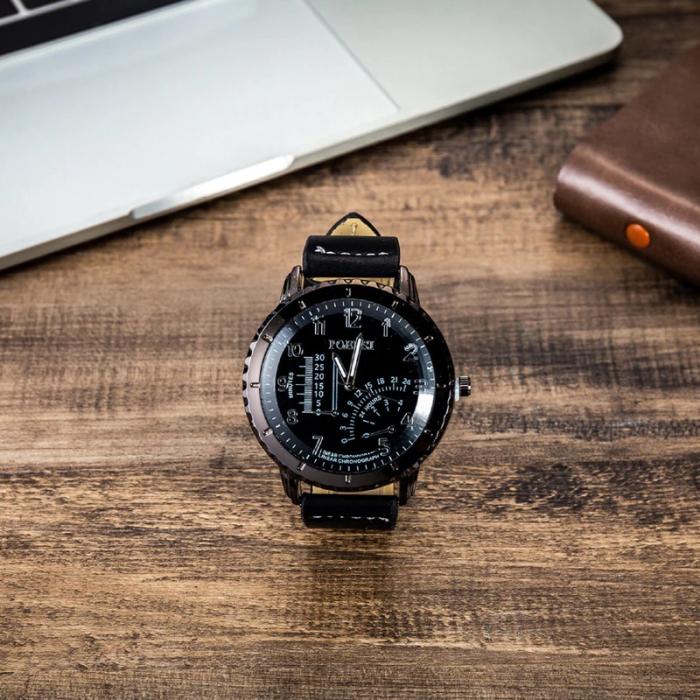 Set cadou pentru barbati 5 buc: ceas, curea de piele, portofel, cravata, ochelari [3]