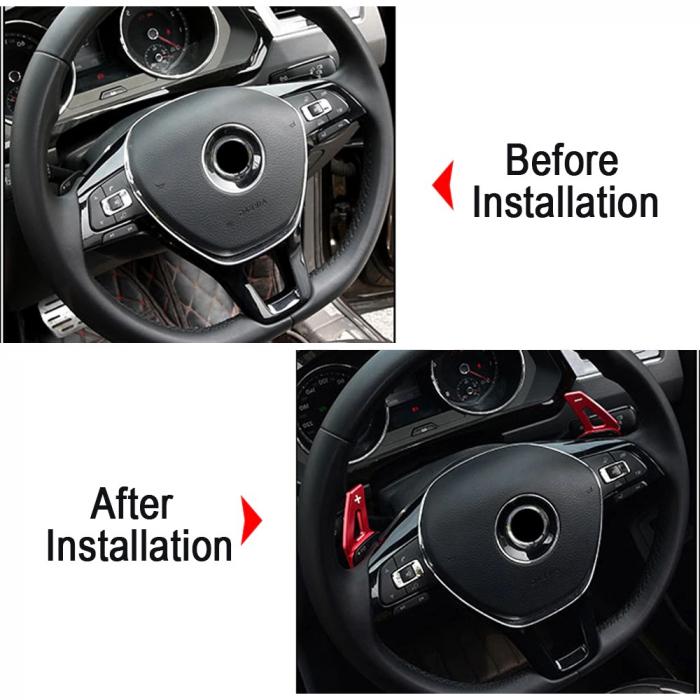 Set 2 padele volan pentru VW, Shift Paddle, VW Tiguan MK2 VW Golf7/8 MK7/8 Variant Alltrack MK7 T-Cross Passat B8 [7]