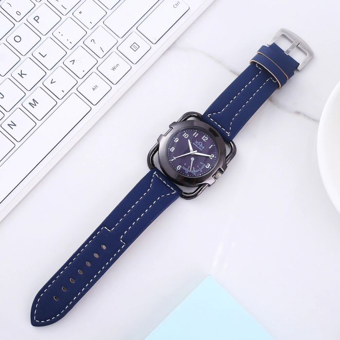 Set pentru barbati 6 buc ceas, portofel, pix, breloc, 2 butoni camasa, culoare negru [2]