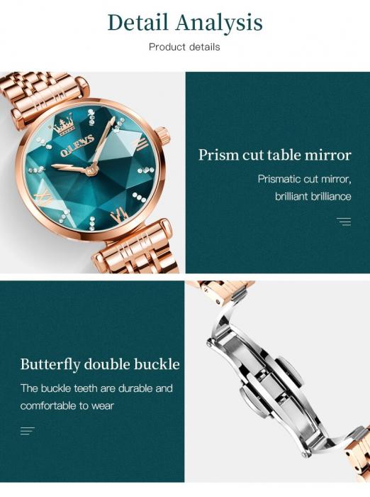 Set pentru femei 3 buc Luxury ceas, bratara, colier [7]