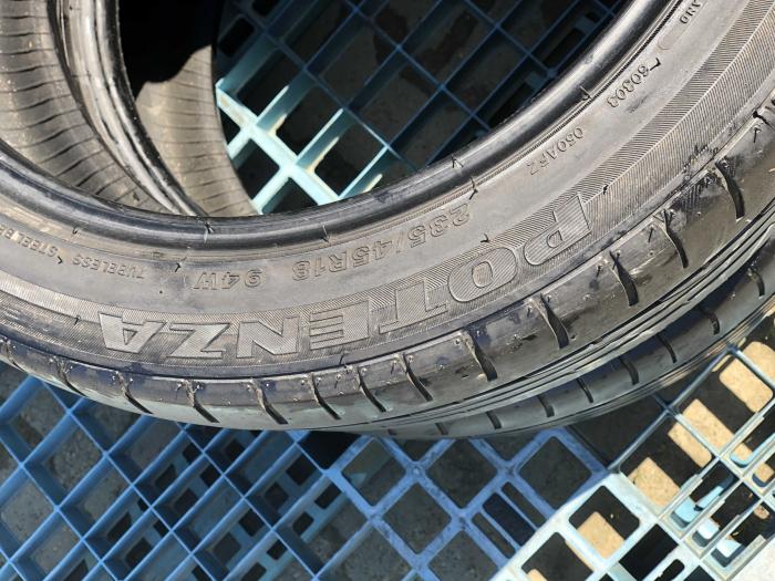 set 2 anvelope 235/45 R18  sh vara Bridgestone 4.5mm cu garantie [4]