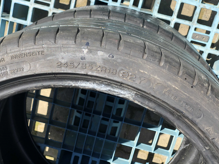 set 2 anvelope 245/35 R18  sh vara Michelin 6mm cu garantie [4]