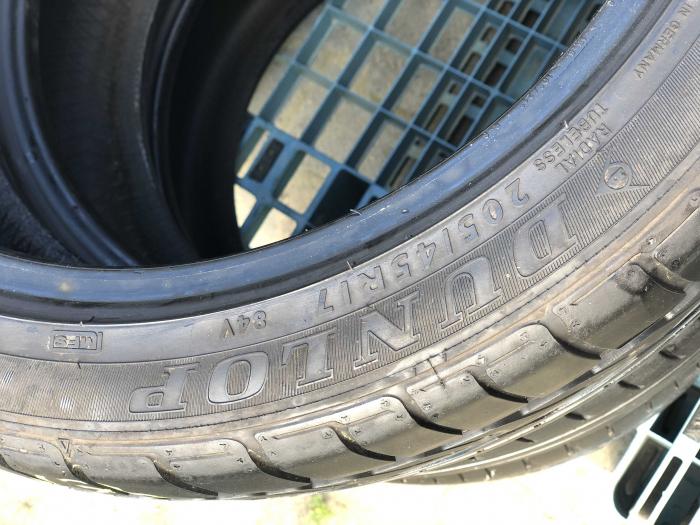 set 2 anvelope 205/45 r17 Runflat sh vara Dunlop 5.5mm cu garantie [3]