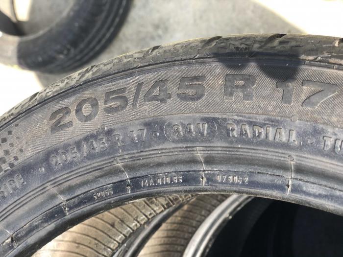 set 2 anvelope 205/45 R17 Runflat sh vara Continental 6.5mm cu garantie [4]