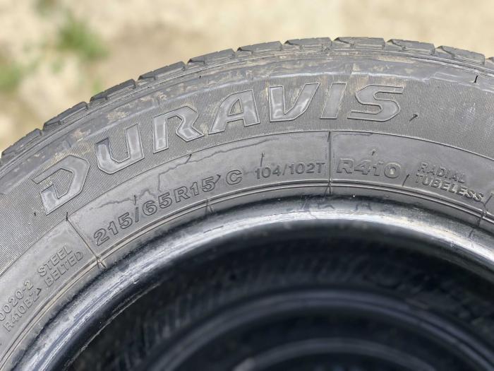 set 4 anvelope 215/65 R15C 104/102T sh vara Bridgestone 6.5mm cu garantie [4]