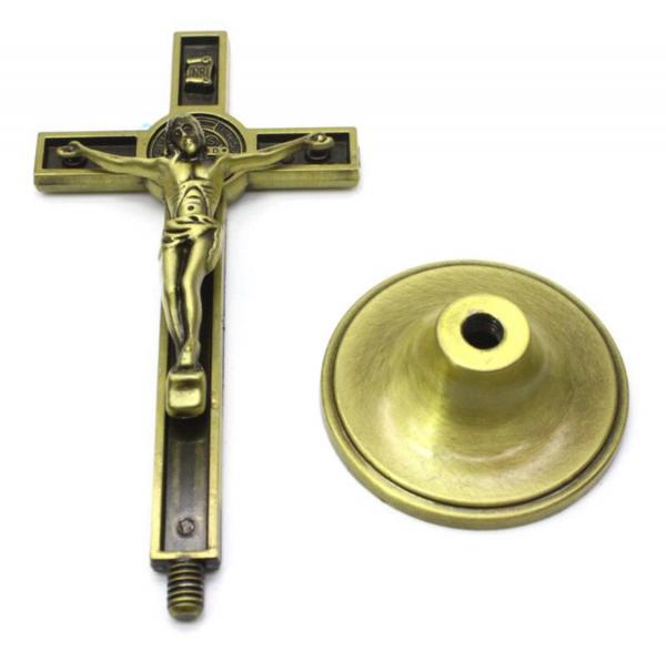 Ornament Iisus Crucifix Hristos Figurina din metal tip cruce 1