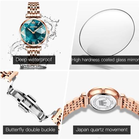 Set pentru femei 3 buc Luxury ceas, bratara, colier [10]
