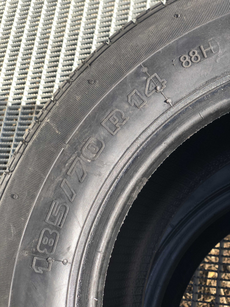 2 anvelope/pneuri noi 185/70 R14 BPV3A vara reconstruite cu garantie 2