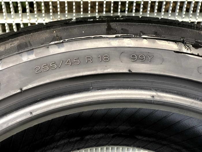 set 2 anvelope 255/45 R18 sh vara Michelin 7mm cu garantie 5