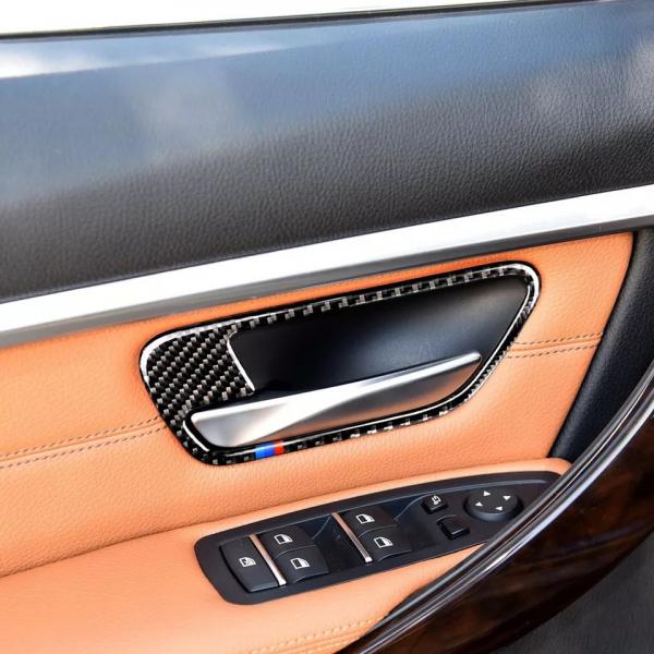 set 4 ornamente fibră de carbon pentru BMW culoare M 1