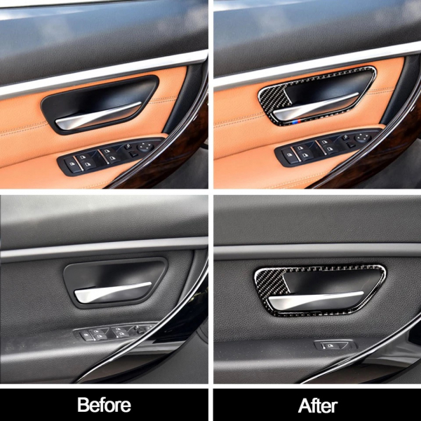 set 4 ornamente fibră de carbon pentru BMW culoare M 6