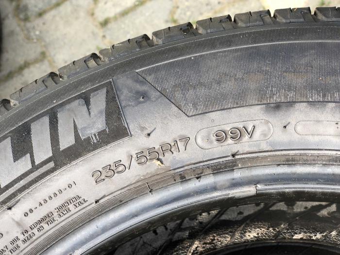 set 2 anvelope 235/55 R17 99V sh vara M+S Michelin 5.5mm cu garantie [4]