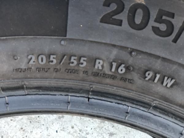 set 2 anvelope 205/55 R16 sh vara Continental 6mm cu garantie 4