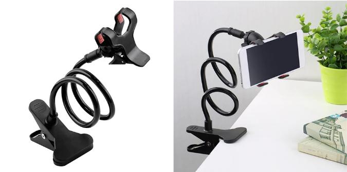 Suport rotativ flexibil 360 grade universal brat lung pentru telefon 3