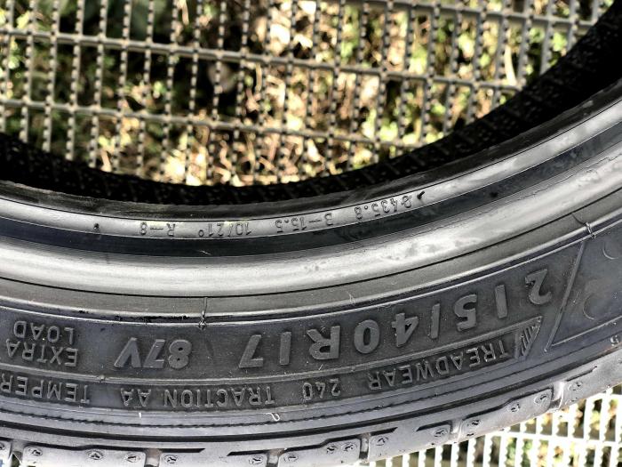 set 2 anvelope 215/40 R17 sh vara Dunlop 7mm cu garantie 6