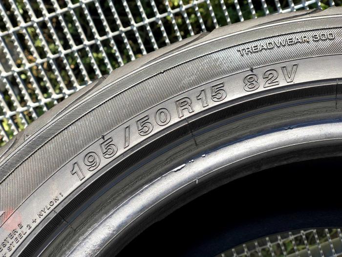 set 2 anvelope 195/50 R15 sh vara Yokohama 7mm cu garantie 4