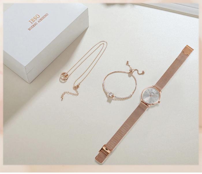 Set 3 buc pentru femei ceas, bratara, colier, luxury [4]