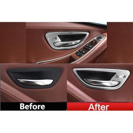 Set 4 ornamente portiere din aliaj pentru BMW F10 F11 seria 5 2010>2017 1