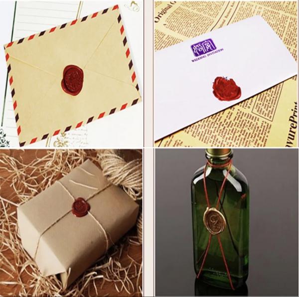 Set stampila + ceara + lingura (made with love) 6