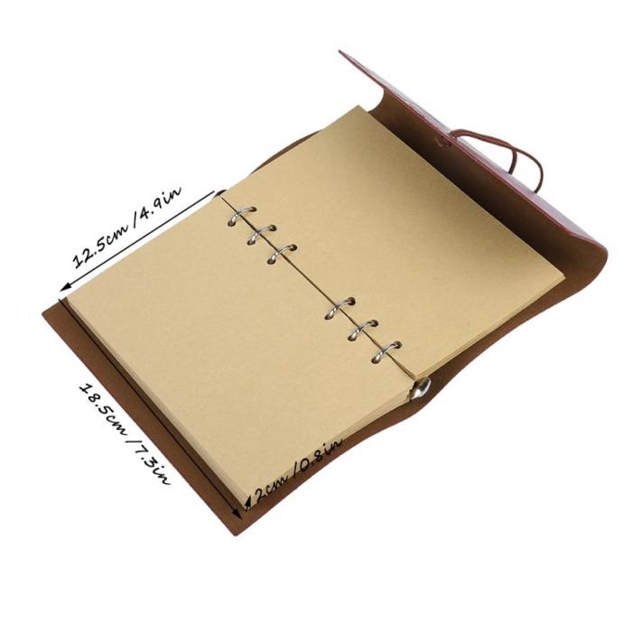Set Stilou cu pana si suport, si carnet de piele retro de lux [1]