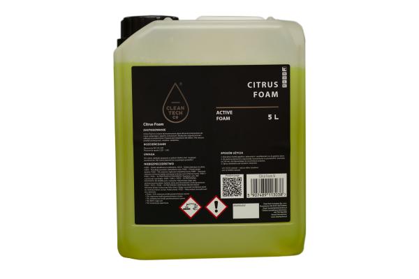 Spuma de citrice cu efect de zapada pentru exterioare auto, Cleantech, 5L 1