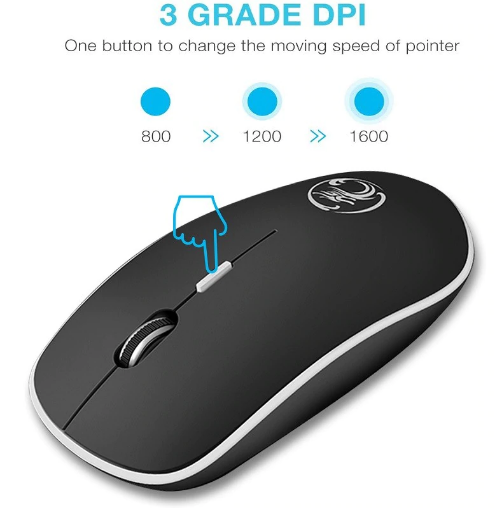 Mouse Wireless, 2.4Ghz USB, Wireless, negru 3