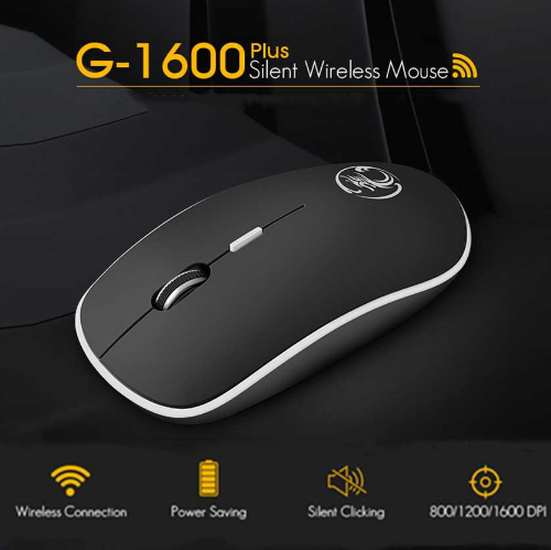 Mouse Wireless, 2.4Ghz USB, Wireless, negru 6