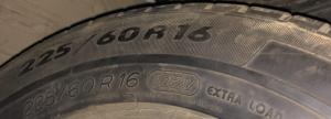 set 2 anvelope 225/60 R16 sh iarna Michelin 5mm cu garantie4