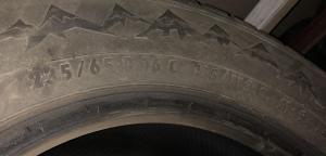 set 2 anvelope 235/65 R16c sh iarna PointS 5mm cu garantie5