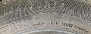 set 4 anvelope 175/70 R14 sh vara Dunlop 6mm cu garantie5