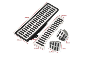 Set 4 pedale din otel pentru Volkswagen Golf /Jetta /Vento, volan dreapta0