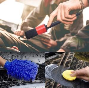 Set 13 perii de curățare a mașinii interior exterior [2]