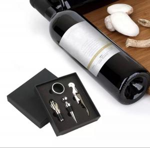 Set 4 buc accesorii pentru deschiderea sticlei de vin din oțel inoxidabil9