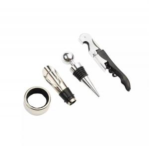 Set 4 buc accesorii pentru deschiderea sticlei de vin din oțel inoxidabil8