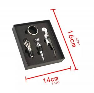 Set 4 buc accesorii pentru deschiderea sticlei de vin din oțel inoxidabil7