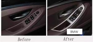 Set 4 piese ornament portiera din aliaj pentru BMW F10 seria 5  2011>20171