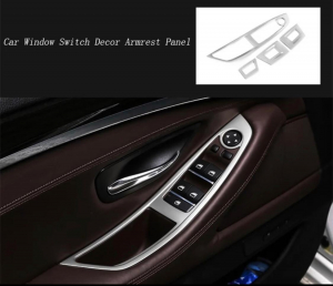 Set 4 piese ornament portiera din aliaj pentru BMW F10 seria 5  2011>20172