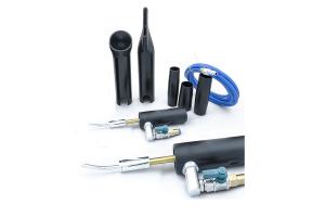Dispozitiv cu aer comprimat,cu conexiune la aspirator, cu duză rotativă din metal și furtun2