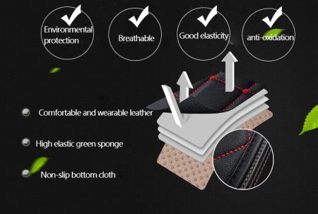 Set 3 huse scaun auto pentru sezut, piele ecologica [3]