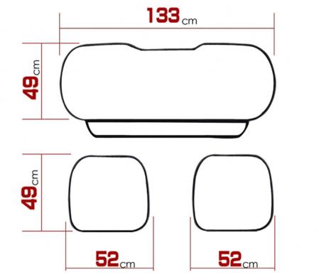 Set 3 huse scaun auto pentru sezut, piele ecologica [2]