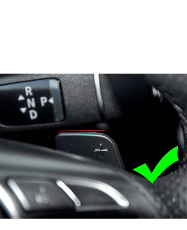 Set 2 padele volan pentru Mercedes-Benz, Shift Paddle rosu, Benz A B E GLA GLK GL SLK R ML Class W176 W246 W212 X204 X166 [1]