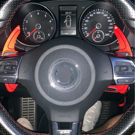 Set 2 padele volan pentru VW, Shift Paddle, VW Tiguan Golf 6 MK5 MK6 Jetta GTI R20 R36 CC Scirocco [2]