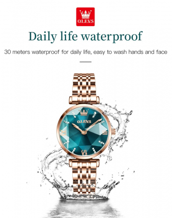 Set pentru femei 3 buc Luxury ceas, bratara, colier [4]