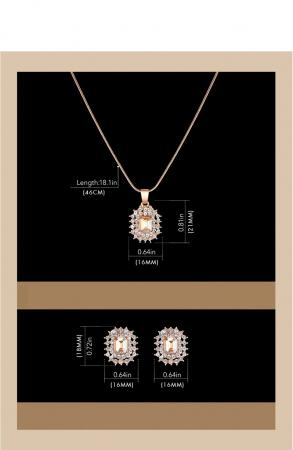 Set cadou 4 buc pentru femei: ceas, cercei, colier [3]