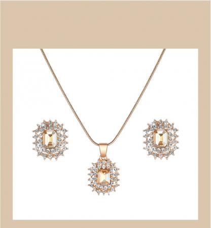 Set cadou 4 buc pentru femei: ceas, cercei, colier [2]